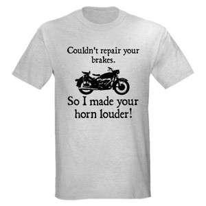 HORN LOUDER FUNNY MOTORCYCLE BIKER BIKE CHOPPER HARLEY T SHIRT