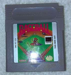 Baseball (Nintendo Game Boy, 1989) EC 045496730024