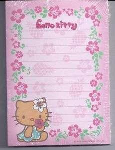Sanrio Hello Kitty Notepad Hawaii Flower Pineapple