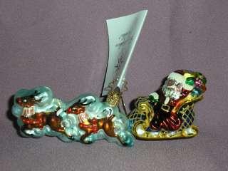 Radko ~MIDNIGHT MAGIC~ Santa & Sleigh Ornament   NO TAG