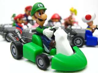Nintendo Mario Kart Wii Pull back Bike figure set of 10