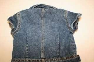 EUC Harley Davidson Motorcycle Girls Denim Jean Fitted Dress Sz 4T