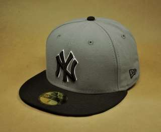NEW ERA 59FIFTY MLB BASEBALL CAP NEW YORK YANKEES STEEL GRAY BLACK