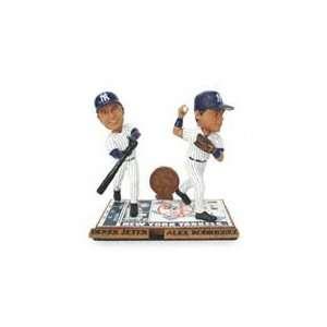 New York Yankees Mariano Rivera and Jose Posada Bobblemates