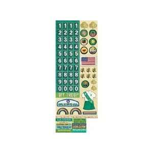 Stickers Girl Scout Numbers/Badges/Words Arts, Crafts & Sewing