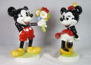 GOEBEL DISNEY MICKEY AND MINNIE MOUSE FIGURINE SET WALT DISNEY LTD ED