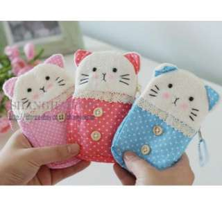 Phone Pouch Mobile Bag Kitten Purse Case Cover for iPod iPhone