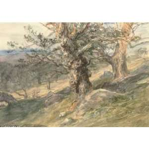Hand Made Oil Reproduction   David Cox   24 x 16 inches   Gnarled Oaks
