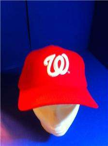 LOT OF 2 NEW WASHINGTON NATIONALS RED BASEBALL CAP HAT ADJUSTABLE NICE
