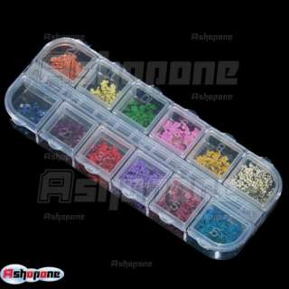 12 pcs Real Dry Dried Flower Nail art Tips Decoration