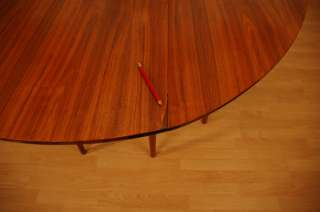 Heritage dining table, gateleg folding extension Eames Mid Century