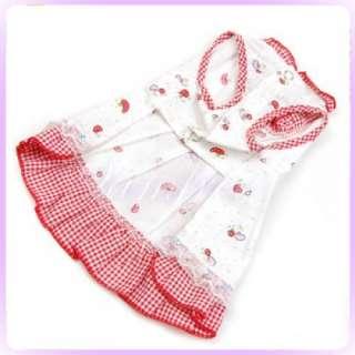 Cute Mushroom pattern Bowknot Dress Dog pet clothes S#