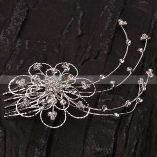 Stylish Elegant Wedding Bridal Flower shaped Hair Accessories Comb
