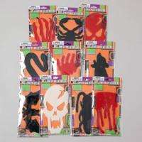 Halloween Decoration Gel Window Clings Decoration Lot Of 10 Packs NEW