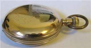 Antique 18 Size Hamden Hunter Case Pocket Watch Heavy Gold Filled
