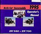 Arctic Cat Owners Operators Manual 1995 ZR 580 ZR 700 Models
