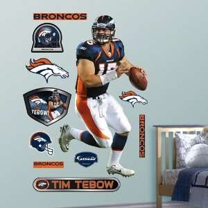 Denver Broncos Tim Tebow Wall Decal: Home & Kitchen