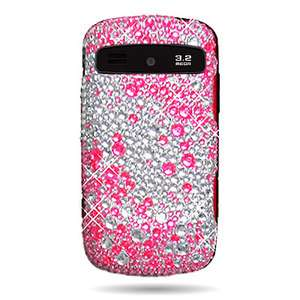 Diamond Pink Silver Bling Faceplate Cover Case For Samsung Admire R720