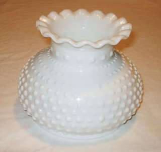 Vintage Milk Glass Hobnail 6 Tall Lamp Shade