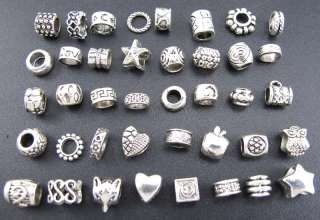 Mix 40pcs Tibetan Silver Cute Spacer Charms Beads Fit European
