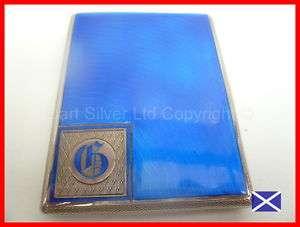 Top Quality Silver & Enamel Cigarette Case HM 1948