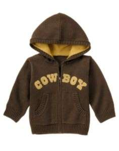 GYMBOREE BABY TODDLER BOYS COWBOY SWEATER OR HOODIE NWT