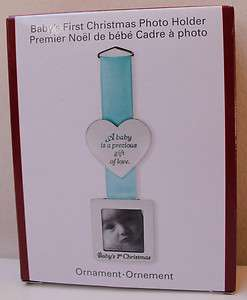 ORNAMENT FRAME BOY BLUE holiday christmas CARLTON CARDS RIBBON