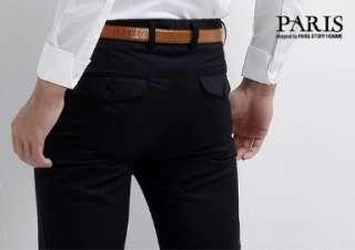 Homme fashion Men Luxury Design Multi Button Dress Trousers/Pants