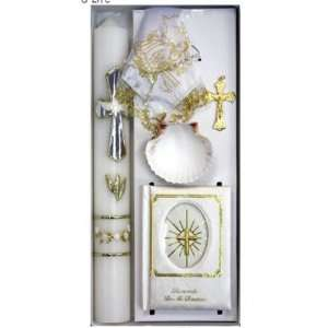 Gift Set in English with 14 Candle, Shell, Large Missal (5x3 Mother