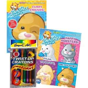 Zhu Zhu Pets Coloring Book Set with Twist up Crayons Toys