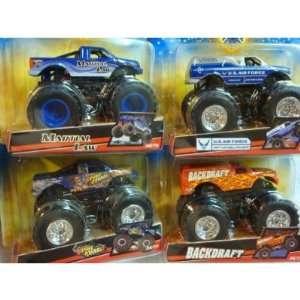 Monster Jam 4 Popular Truck Set U.S. Airforce Afterburner