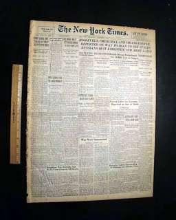 NOTRE DAME FOOTBALL National Champions 1943 Newspaper Fighting Irish
