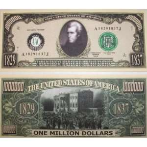 Set of 10 Bills Andrew Jackson Million Dollar Bill  Toys