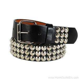 leather belt spike unisex womens punk rock goth emo d074 metal cone