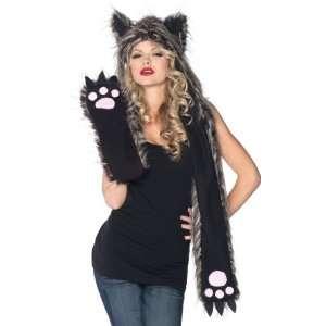 Lets Party By Leg Avenue Plush Fox Hood & Paw Scarf (Adult