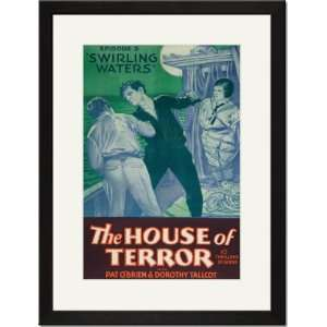 Matted Print 17x23, Swirling Waters   House of Terror