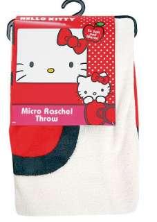 HELLO KITTY~ I AM SOFT MICRO RASCHEL THROW BLANKET