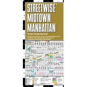Midtown Manhattan Map   Laminated City Street Map of Midtown Manhattan