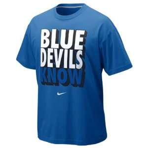 Duke Blue Devils Royal Nike Nike Knows T Shirt Sports