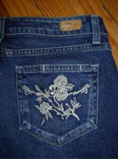 PAIGE Premium Denim *LAUREL CANYON* Boot Jeans Embroidered Pkts 28 x
