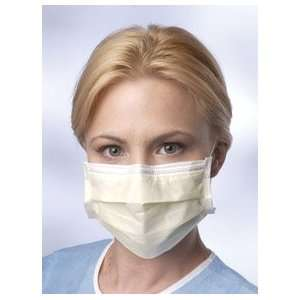 ] Mask [Acsry To] FACE MASK, ISOLATION, EARLOOPS YELLOW TISSUE INNER