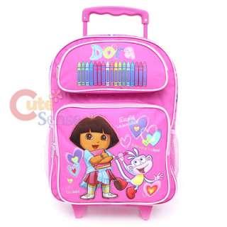 Dora & Boots School Rolling Backpack Roller Bag16Pink