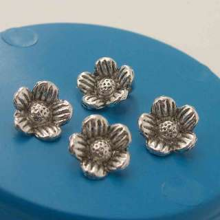 10x6mm Tibetan Silver Flower Charms Pendants (45pcs)