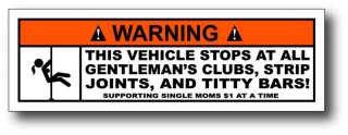 Strip Club Funny JDM Sticker Decal Fit Civic CRX Accord