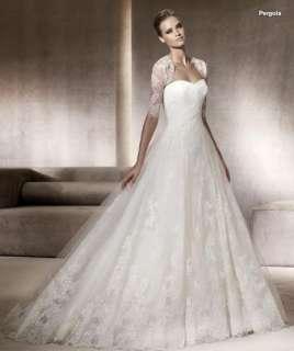 CUSTOM SZ white/ivory lace empire line wedding bridal dress gown lace