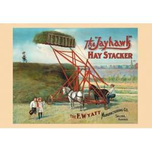 Jayhawk Hay Stacker 16X24 Giclee Paper