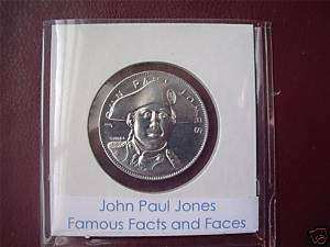 John Paul Jones   Franklin Mint Medal (Famous)
