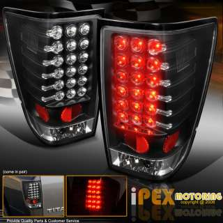 04 07 Nissan Titan LED Brake Tail light+BLACK Halo Projector Headlight