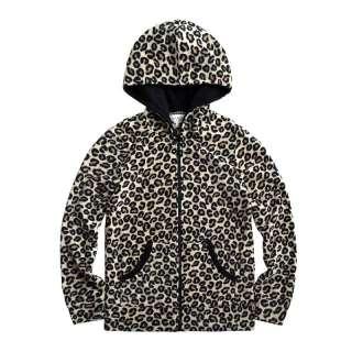 Vancl Leopard Pattern Polar Fleece Hoody/Hoodies/Coat Gray(Women