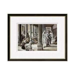 Jesus Walking On Solomons Porch Framed Giclee Print